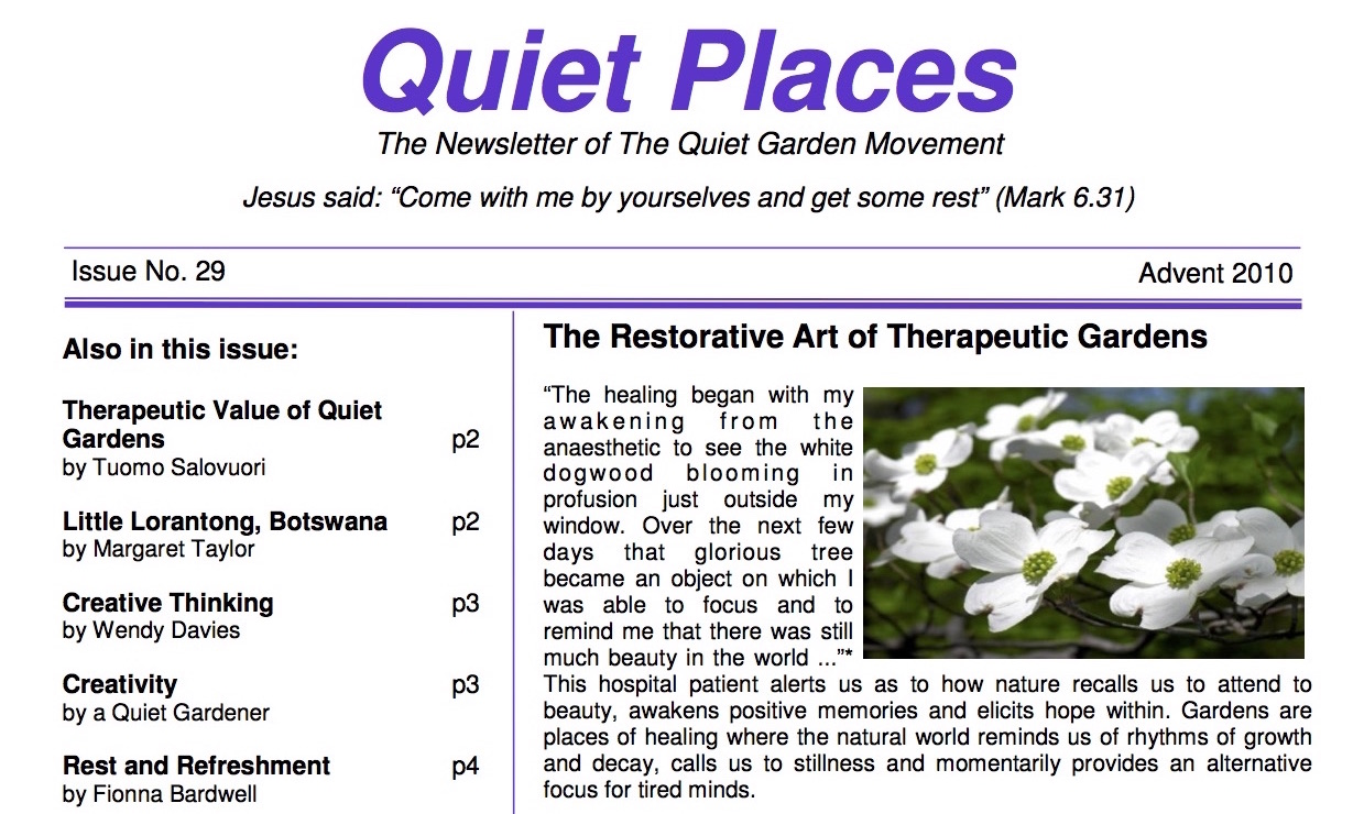 Quiet Places 29 – Advent 2010