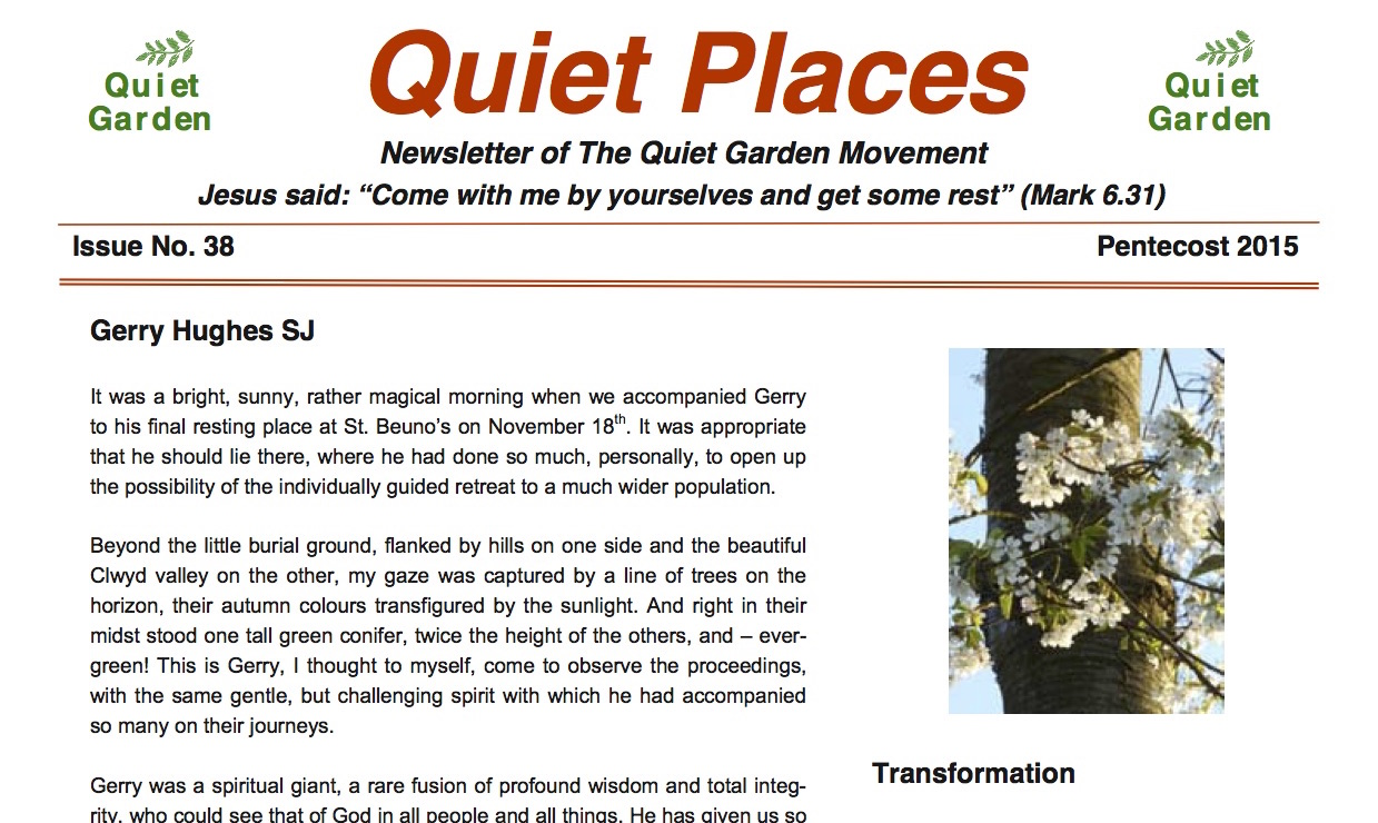 Quiet Places 38 – Pentecost 2015