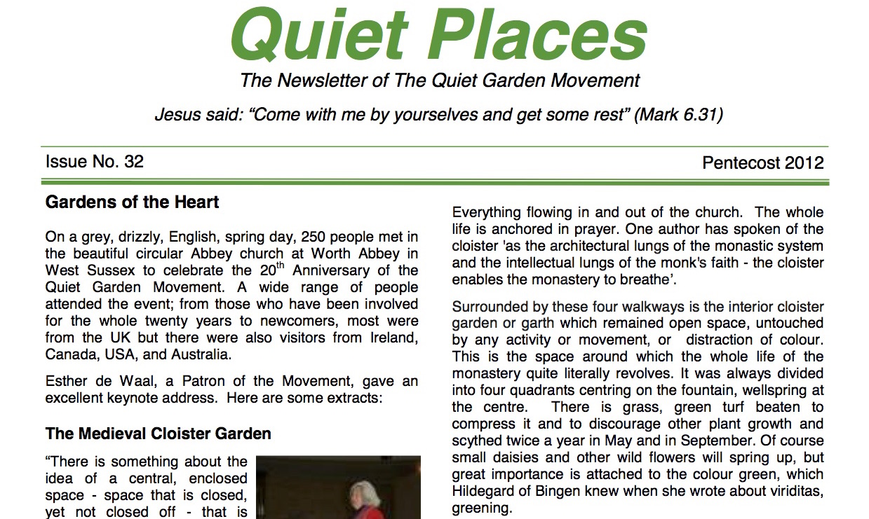 Quiet Places 32 – Pentecost 2012