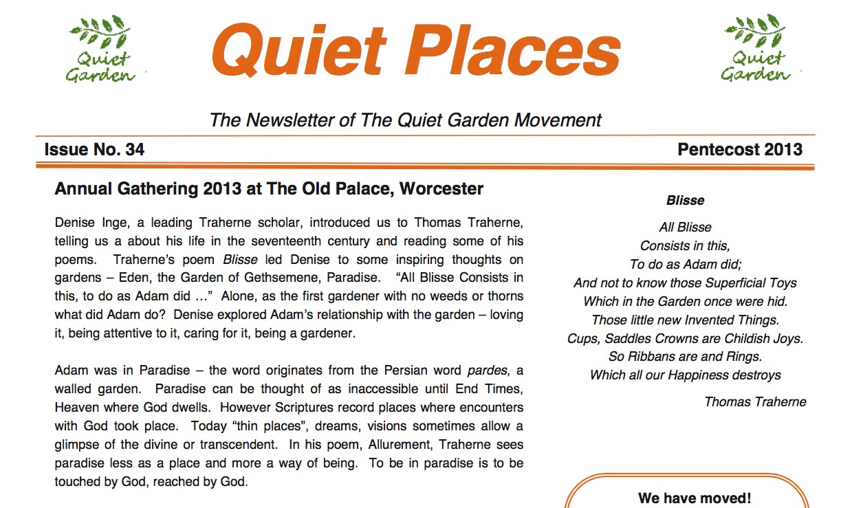 Quiet Places 34 – Pentecost 2013