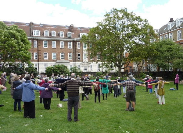 Quiet25 Gathering – Body Prayer Outside