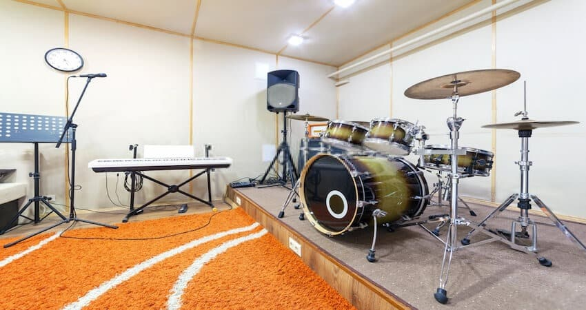 Thick Rug Under the Drums