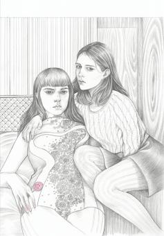 quiet-lunch-Martine+Johanna,+Ghosts