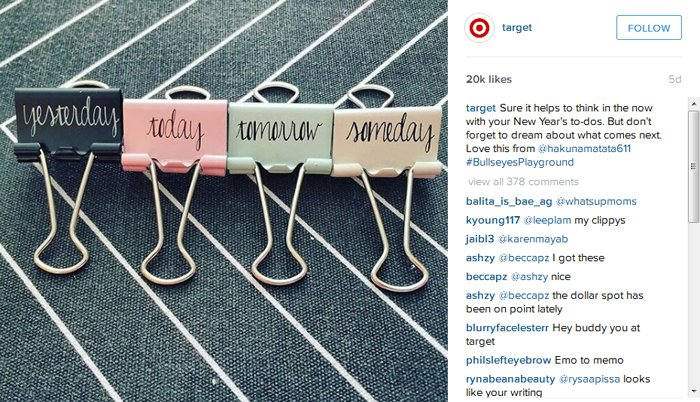 Use a Casual Tone - Target - Instagram
