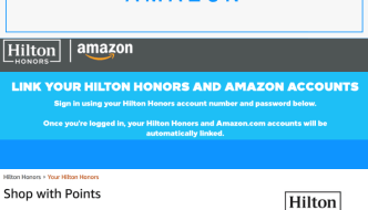 Spending Hilton Honors Points and Linking with Amazon