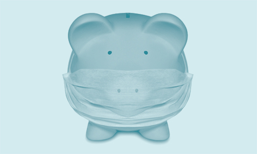 Piggy-bank pig with its mouth masking taped shut, illustrating a blog about why being passive costs pounds.