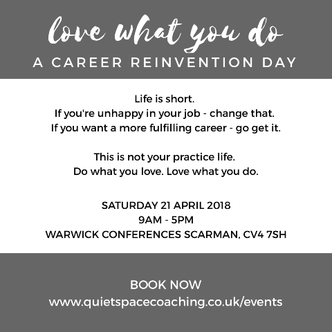 Career Reinvention Day instagram advert (grey)