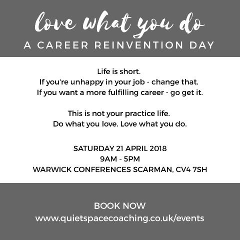 Career Reinvention Day instagram advert (grey)