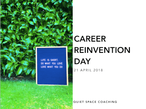 Career Reinvention Day opening slide