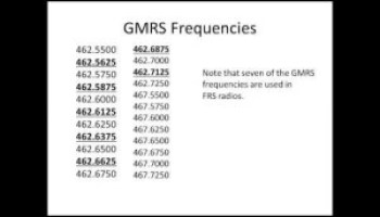 Range of frs/gmrs radios and iintro to MURS