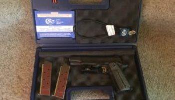 Colt 1911 Combat Unit Rail Gun 45acp Review pt 2 Range