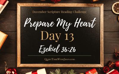 Prepare My Heart – Day 13: A New Heart