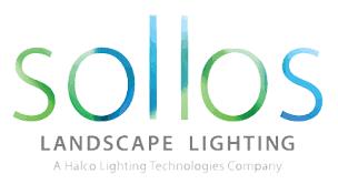 low-voltage lighting Quiett Scapes vendor, Sollos landscape Lighting logo