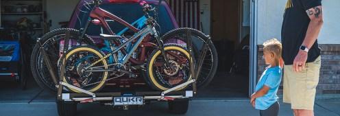 Quik Rack Mach2: Three bikes loaded