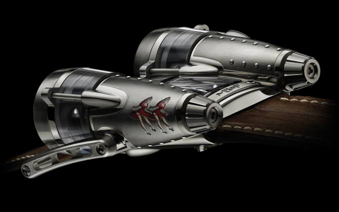 MB&F HM4 Double Trouble with replica World War II bomber nose art