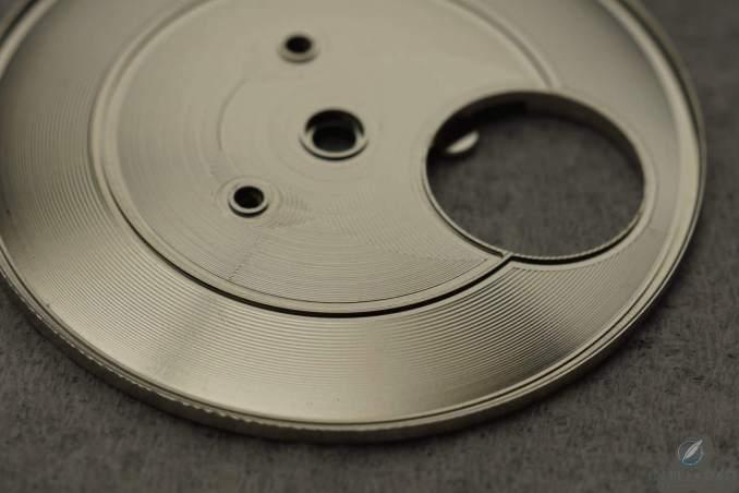 Dial blank of the author's Hajime Asaoka Tsunami crafted from German silver (photo courtesy Hajime Asaoka)