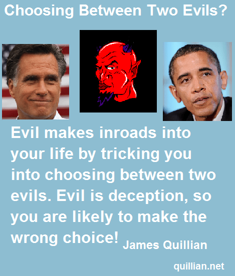 Choosing Between Two Evils - image  on http://quillian.net/blog