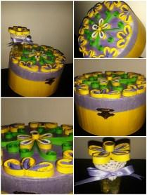 cutii decoratiuni cu mov si galben handmade quillingforyou (18)_Fotor_Collage