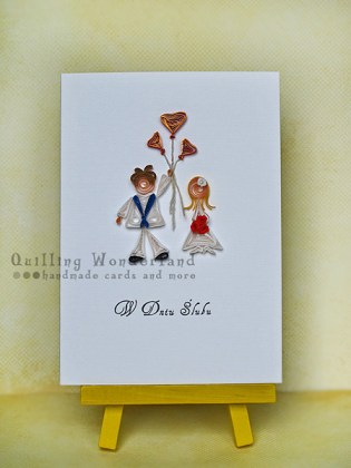 Quilled card for Sailor's Wedding