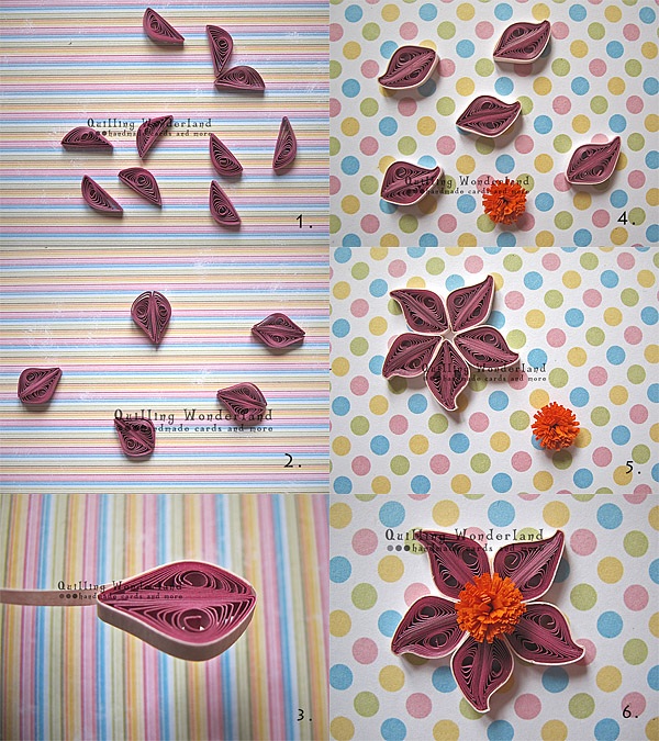 purple flower quilling tutorial
