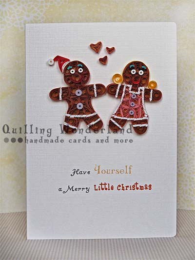 Gingerbread Man Ekhm Couple Christmas Handmade Card In