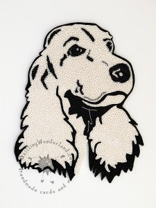 quilled dog head