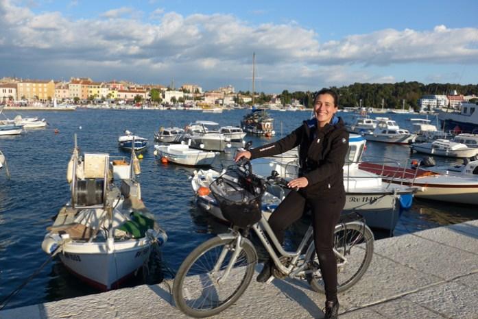 Em Rovinj. De mota pela Croácia e Montenegro.