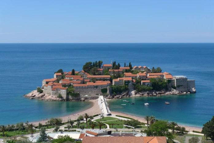 Croácia e Montenegro de mota