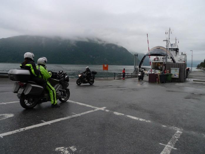Noruega Geiranger de ferry Viagem de mota à Noruega