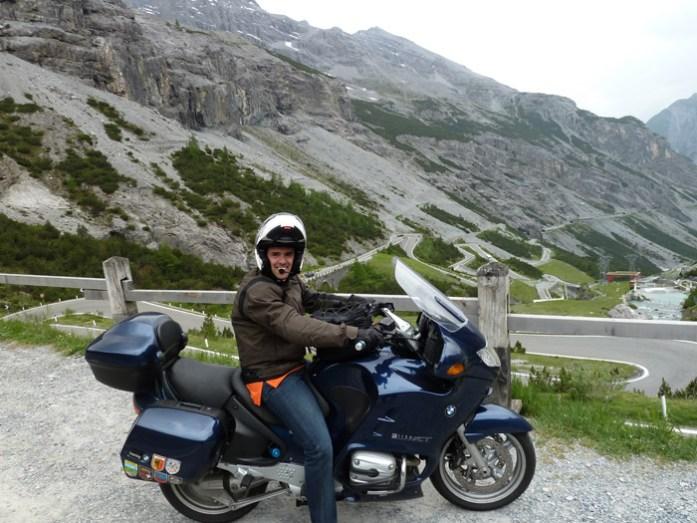 stelvio pass numa viagem de mota