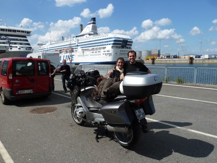 Porto de Estocolmo. Ferry para Helsínquia na Finlândia