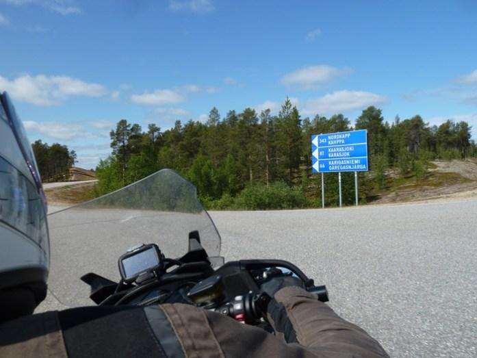 Viagem de mota pela Finlândia. Santa Claus Village em Napapiiri.
