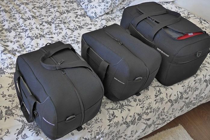 Bagagem numa viagem de mota: inner bags