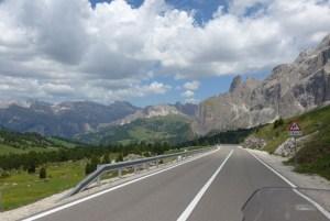 Estradas de Montanha nos Alpes.