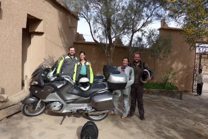 Os nossos companheiros no roteiro de viagem de mota a Marrocos.