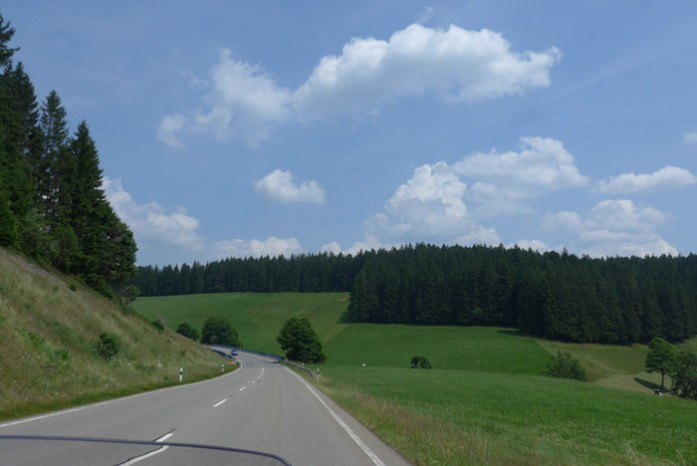 Floresta Negra. Estrada 500. Alemanha