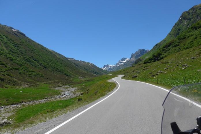 Roteiro de viagem de mota pelas Estradas Alpinas. Silvretta. Áustria