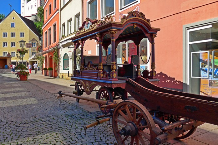 Pelo centro histórico de Fussen