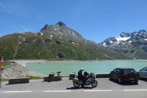 Viagem de mota na Áustria. Silvretta