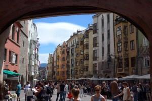 Viagem de mota na Áustria. Em Innsbruck