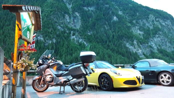 Viagem de mota na Áustria. Alojamento em Haus Marienheim