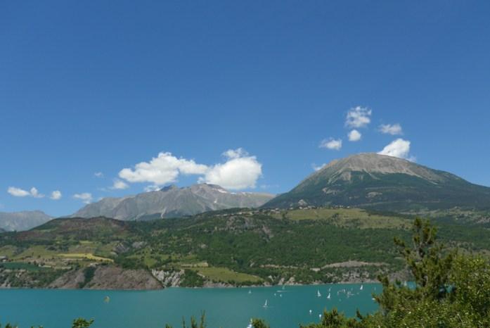 Nas melhores Estradas dos Alpes Franceses. Lac de Serre de Ponçon.