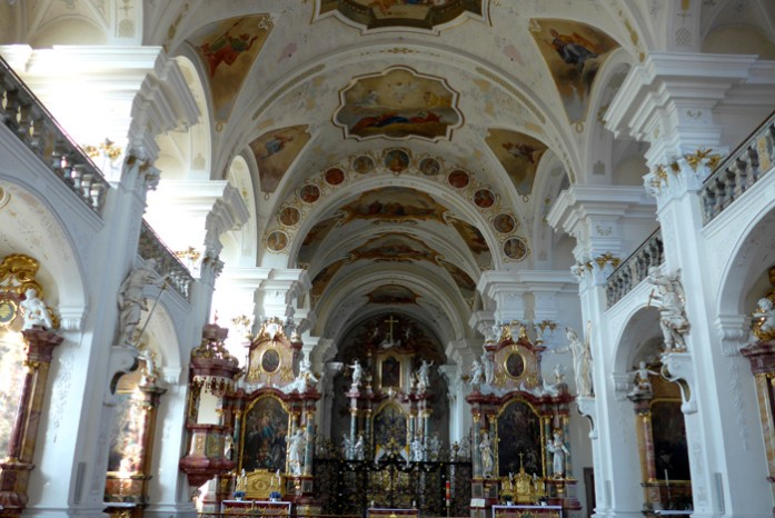 Rota panorâmica da Floresta Negra. A Abadia de St Peter.