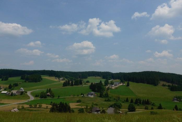 Rota panorâmica da Floresta Negra.Em Schwarzwaldhochstraße.