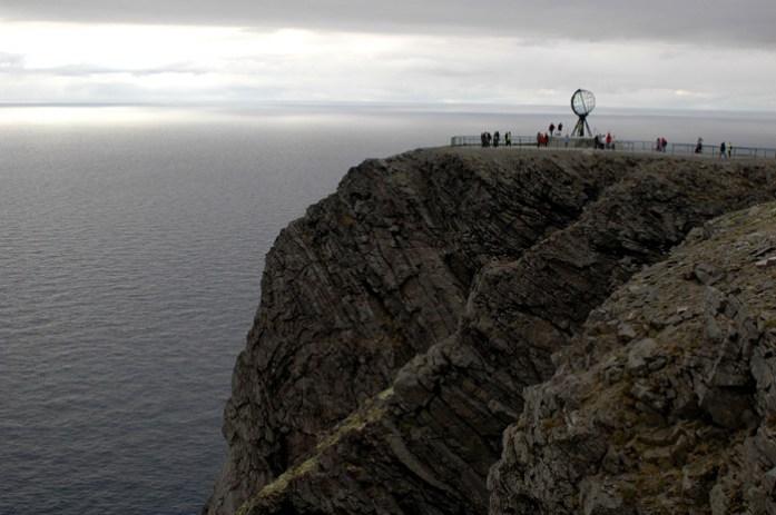 Nordkapp ou Cabo Norte. Fiordes da Noruega