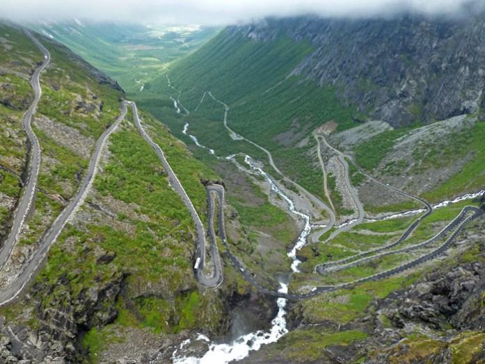 Trollstigen . Melhores estradas percorridas
