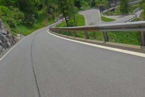 Viagem de mota aos Alpes Suíços. No Maloja Pass.