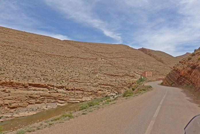 Viagem de mota a Marrocos. Em Gorges du Dadès.