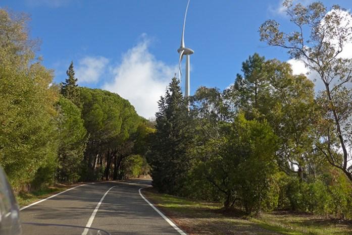 Estrada N124 - Barranco do Velho - Cachopo. Baixo Alentejo.