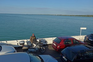 Travessia de ferry, Lago Balaton, Hungria